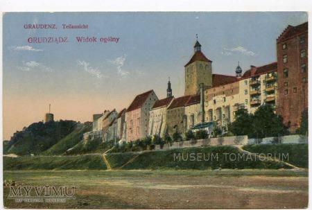 Grudziądz Graudenz (przed 1918) - Widok od Wisły