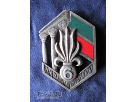 6e R.E.I., insignes portés de 1949 à 1955.