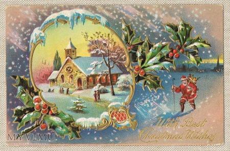 Święty Mikołaj w drodze do pobliskiej miejscowości