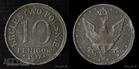 Duże zdjęcie 1917 10 fenigów - destrukt (zdwojenie)