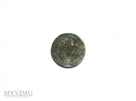 1/2 silber groschen 1840