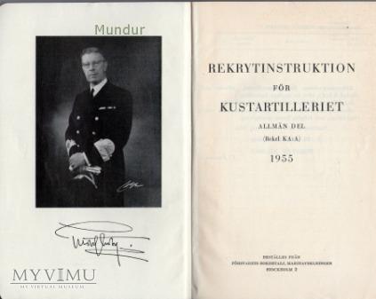 Rekrytinstruktion för kustartilleriet 1955