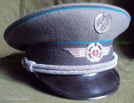 Czapka oficera lotnictwa NVA DDR Schirmmütze