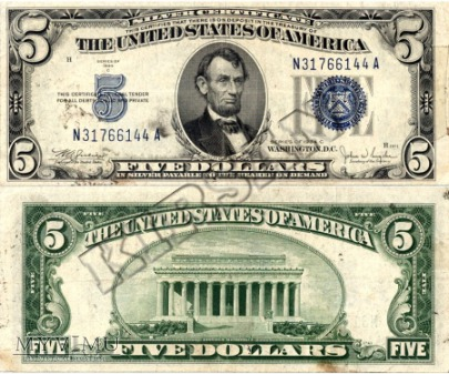 Banknot $ 5.00 1934 r