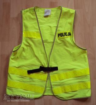 Kamizelka ostrzegawcza policji