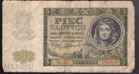 5 zł 1941r. Ser. AE