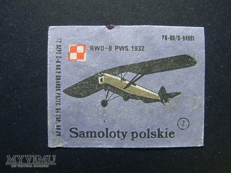 Etykieta - Samoloty polskie - RWD-8 PWS.1932