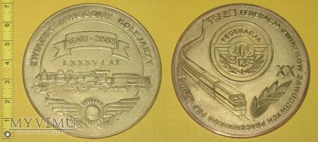 Medal kolejowy - związkowy ZZK