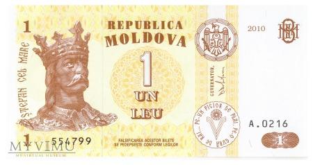 Mołdawia - 1 lej (2010)