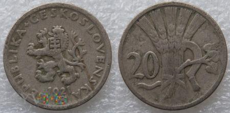 Czechosłowacja, 20 Haléřů 1921