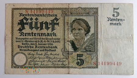 5 marek 1926