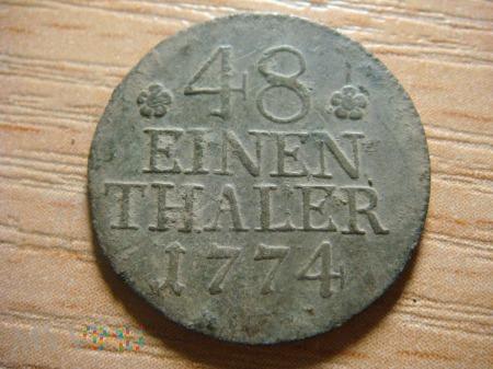 48 einen thaler, 1774, A