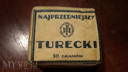 Tytoń Najprzedniejszy Turecki 50g. 1939 r.
