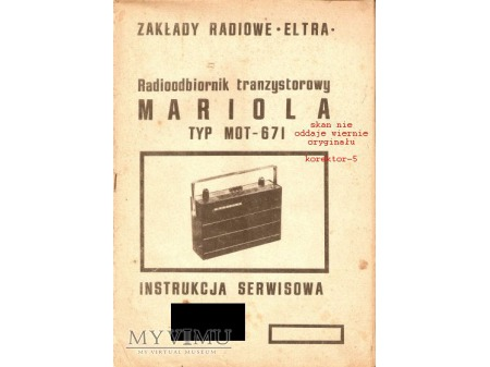 Instrukcja radia MARIOLA