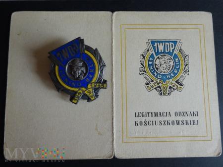 Duże zdjęcie Legitymacja i Odznaka 1WDZ z 1975 r.