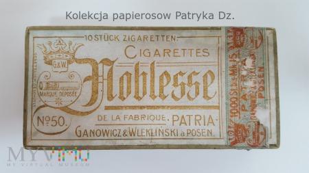 Papierosy NOBLESSE Partia Poznań 1910 - 1915