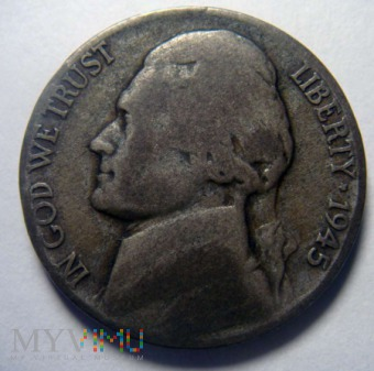 5 centów 1945 P Jefferson , USA