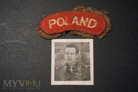 Naszywka POLAND i zdjęcie Plutonowego Awdzieja