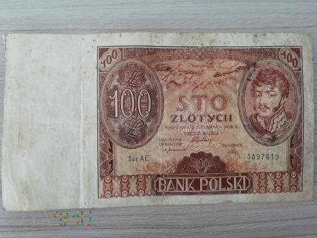 100 złotych okres II RP