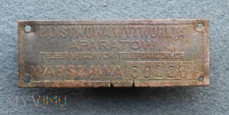 Identyfikator do aparatu telefonicznego wz.27