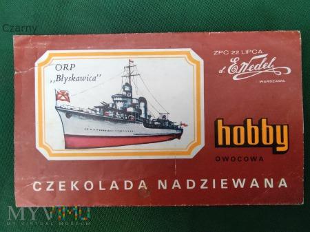 """Duże zdjęcie CZEKOLADA WEDEL HOBBY F.014 ORP """"BŁYSKAWICA"""""""