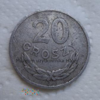 1965 rok - 20 groszy - aluminium - PRL
