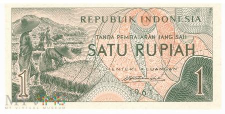 Indonezja - 1 rupia (1961)