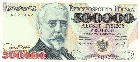 Polska - 500 000 złotych (1993)