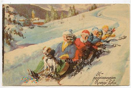 Szczęśliwego Nowego Roku - lata 20/30-te XX w.