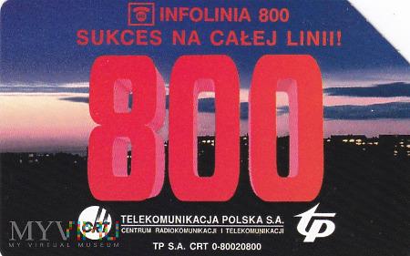 Karta telefoniczna - Infolinia 800