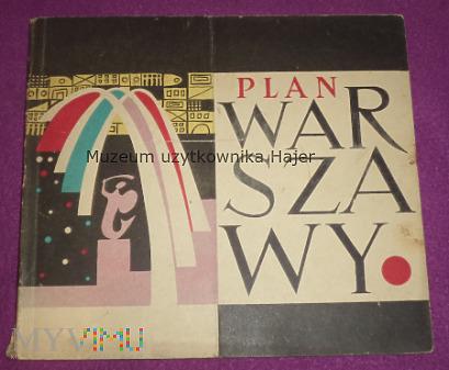 Warszawa - plan miasta 1958 rok
