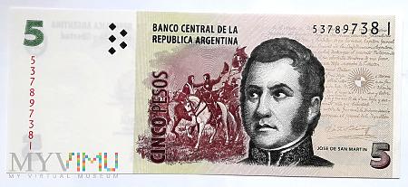 Argentyna 5 pesos 2003