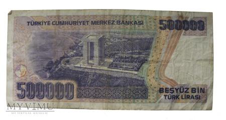 500000 Lirów (Lirasi) Tureckich, 1970 rok.