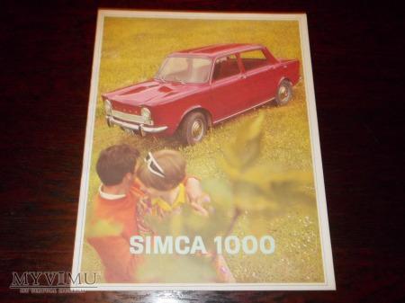 Prospekt SIMCA 1000