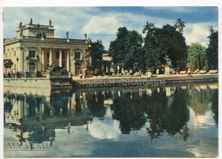 Warszawa - Łazienki - Pałac od frontu - 1962