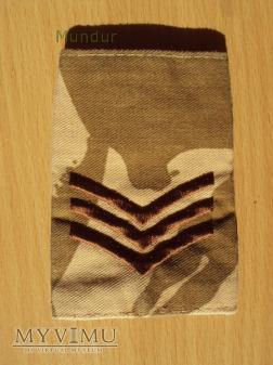 Wielka Brytania-oznaka stopnia: sergeant