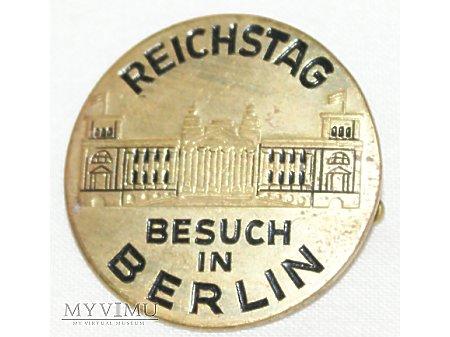 Niemiecka odznaka Reichstag Besuch in Berlin