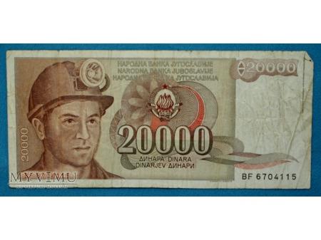 20000 Dinarów 1987