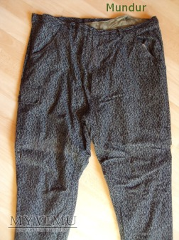 Mundur koszarowy-bojowy strażacki; spodnie zimowe