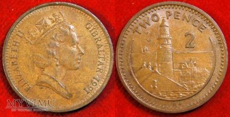 Gibraltar, 2 pensy 1991