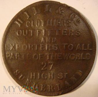 Żeton angielskiej firmy HILL & Co. 1825