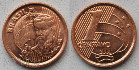 Brazylia, 1 Centavo 2001
