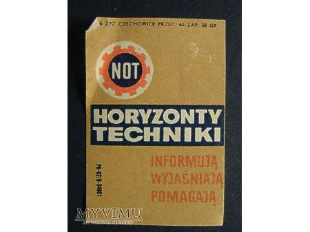 Duże zdjęcie Etykieta - Horyzonty Techniki