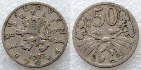 Czechosłowacja, 50 Haléřů 1922
