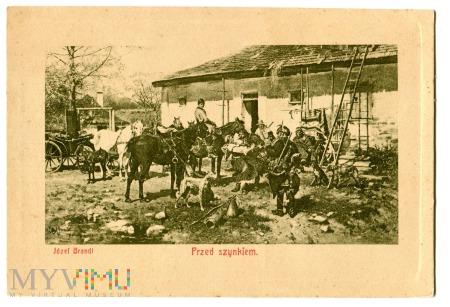 Duże zdjęcie Przed Szynkiem, Józef Brandt, c. 1910