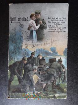 Kartka Pocztowa - marzenia artylerzysty