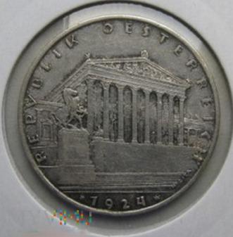 1 szyling 1924 r. Austria