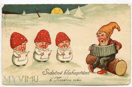 Serdeczne pozdrowienia z Nowym Rokiem - 1926