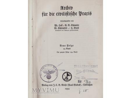 Książka z bibl.H.Franka-1934
