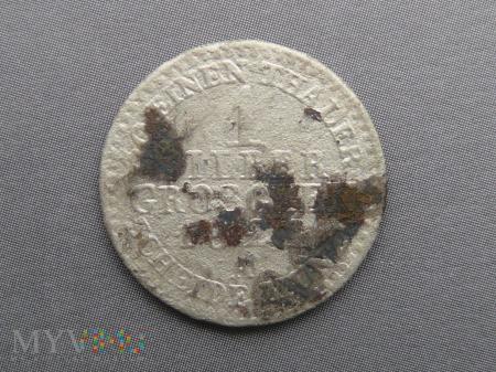 1 silber groschen srebrny grosz 1822